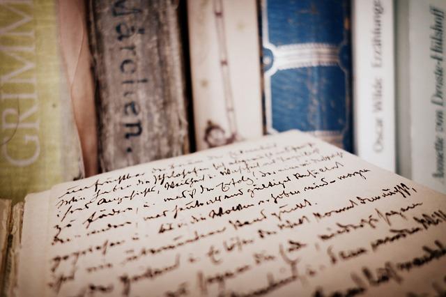 ručně psaná kniha