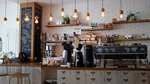 Kavárna, barista, práce